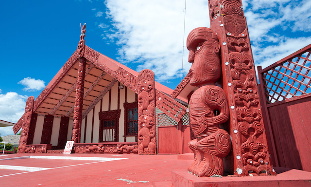 Ancient Maori Rock Art, Marae and Family Lunch
